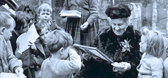 Dr. Maria Montessori at work